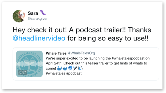 Headliner - Promote your podcast, radio show or blog with video